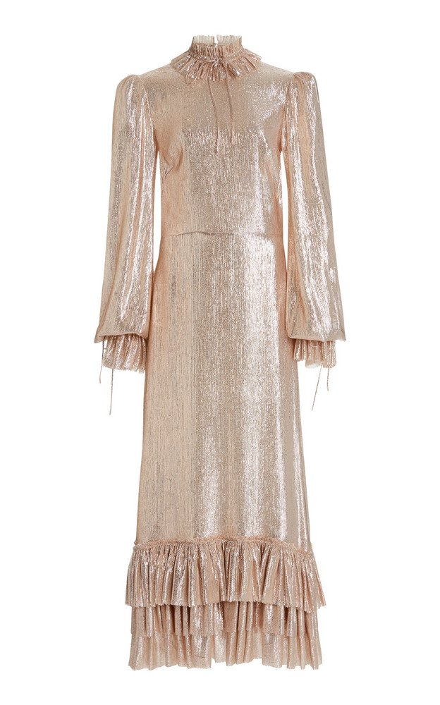 The Vampire's Wife The Cinderella Metallic Dress in gold