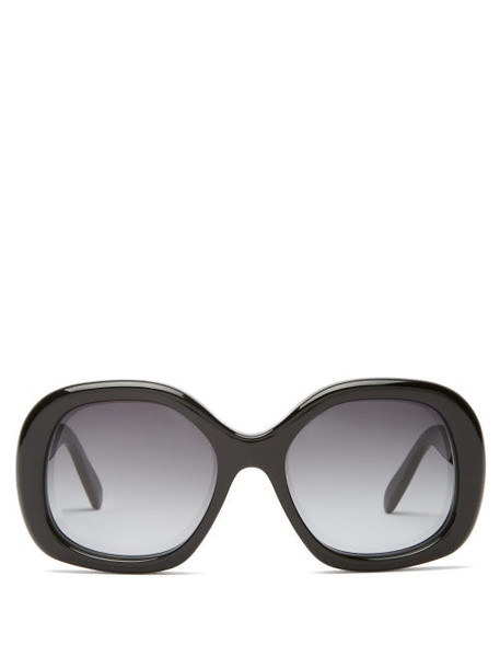 Celine Eyewear - Square Acetate Sunglasses - Womens - Black