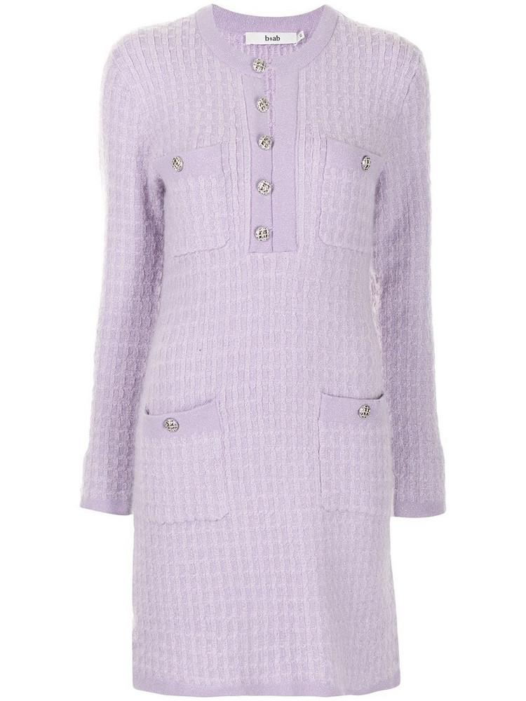 b+ab b+ab accent-button jersey-knit dress - Purple