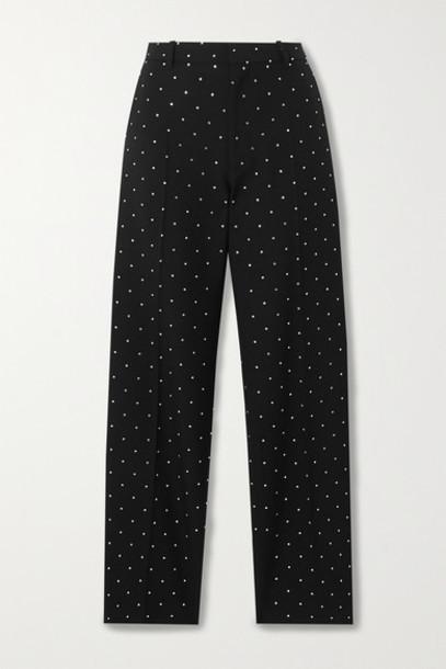 Balenciaga - Sequin-embellished Wool-twill Straight-leg Pants - Black