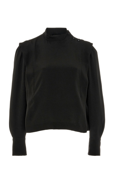 Isabel Marant Belissa Chiffon Blouse in black