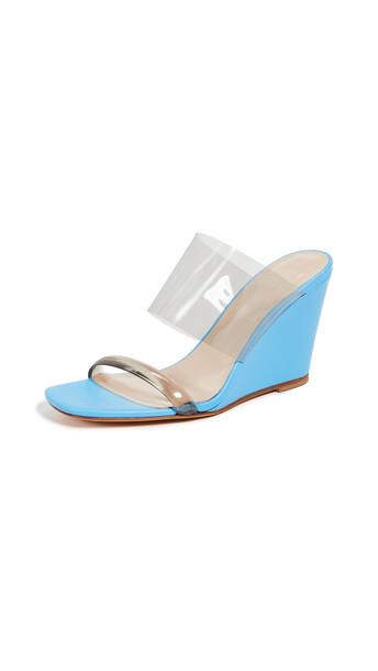 wedges blue electric blue shoes