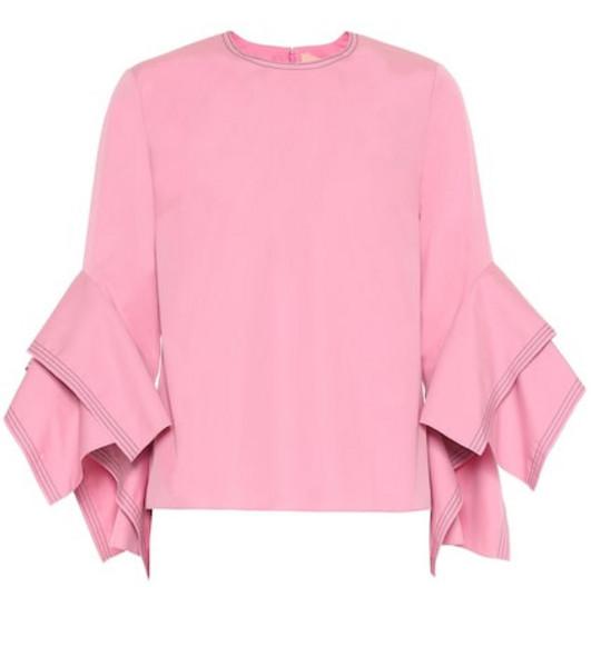 Roksanda Rana cotton blouse in pink