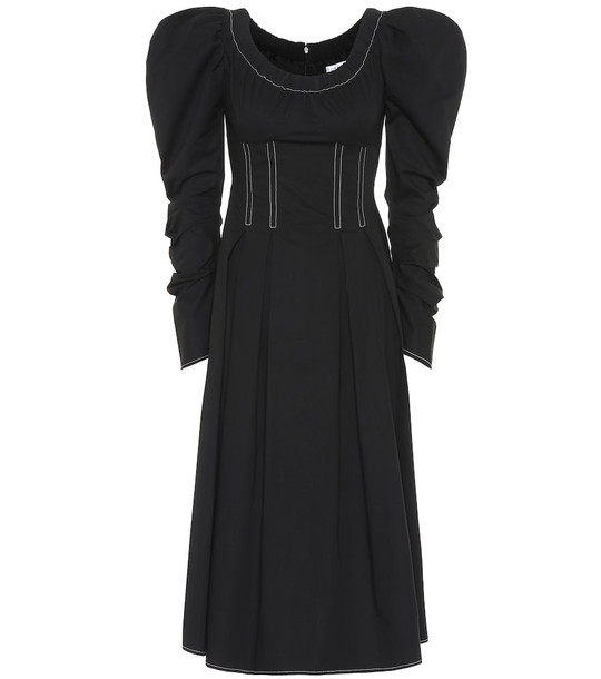 Rejina Pyo Carla cotton midi dress in black