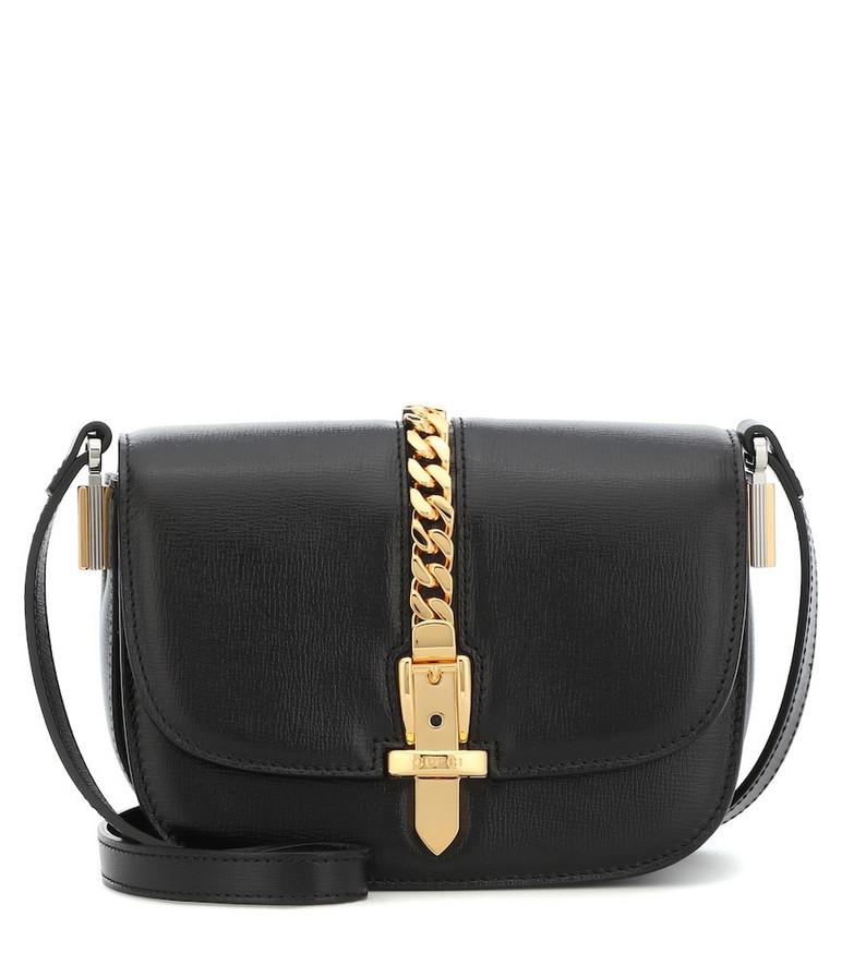 Gucci Sylvie 1969 Mini leather shoulder bag in black