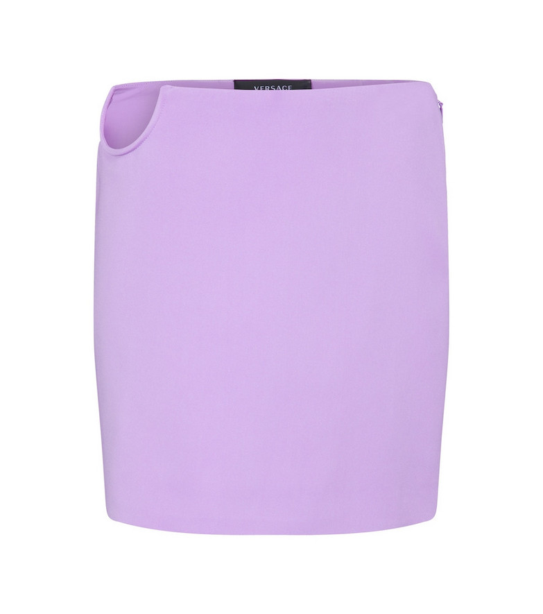 Versace High-rise miniskirt in purple