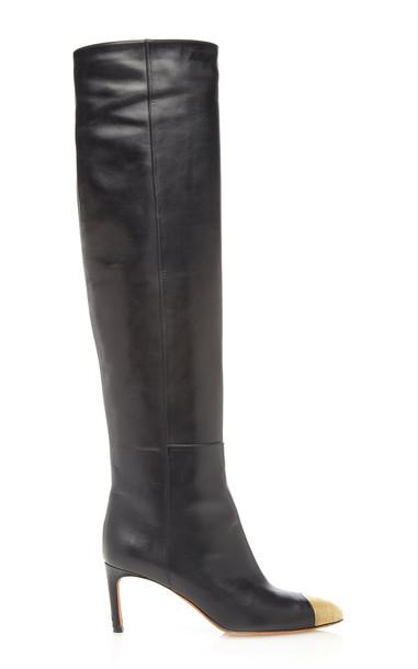 Altuzarra Leather Knee High Boots in black