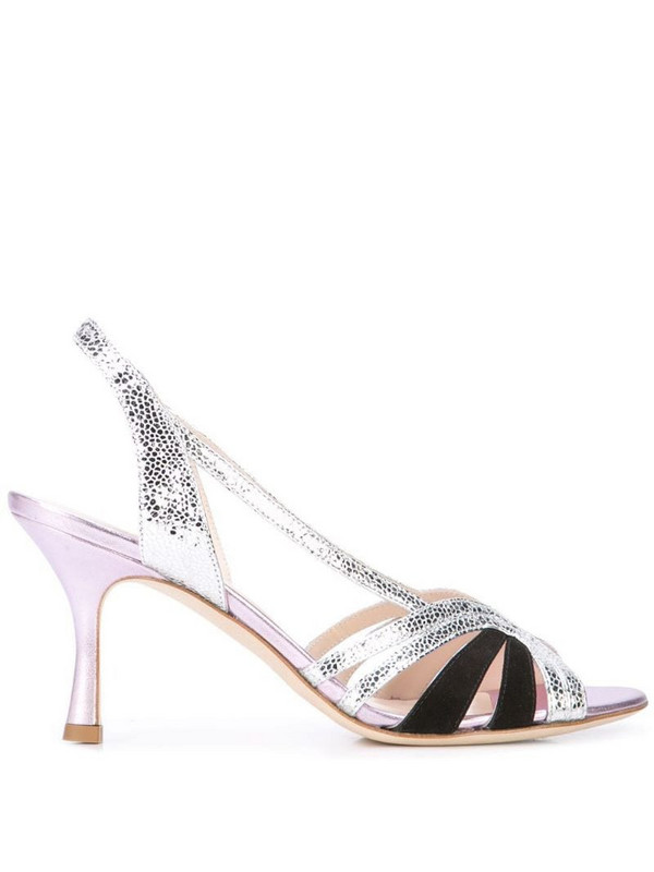 Gia Couture textured sandals in silver
