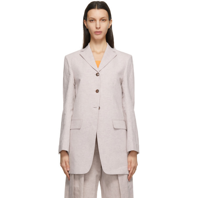 LOW CLASSIC Pink Linen Classic Blazer in violet