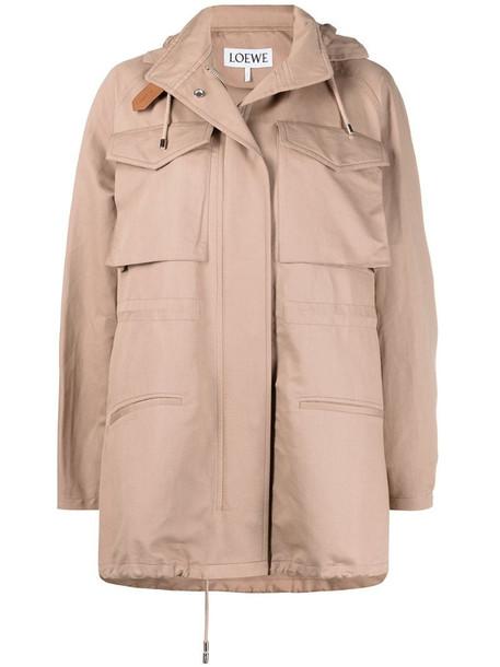 LOEWE flap pocket A-line jacket in neutrals
