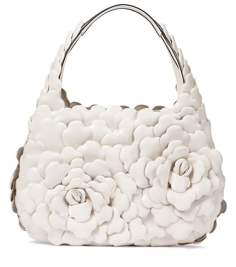 Valentino Garavani Atelier Small leather tote in white