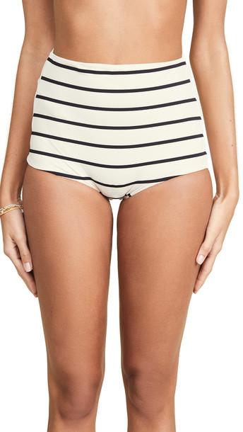 TM Rio De Janeiro Milagres High Waist Bikini Bottoms in black / white