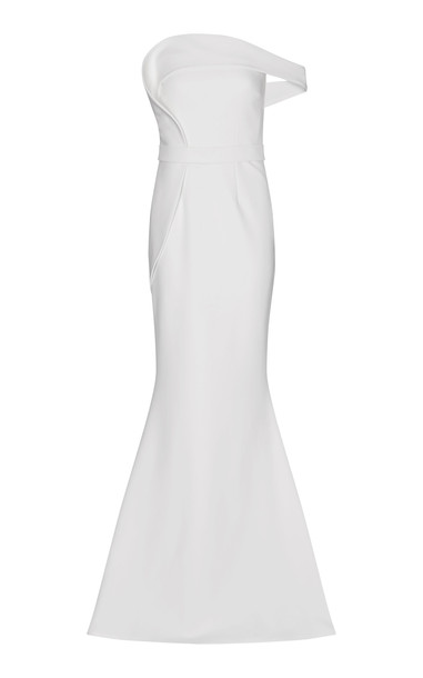 Safiyaa Reverie Heavy Crepe Dress Size: 34 in white