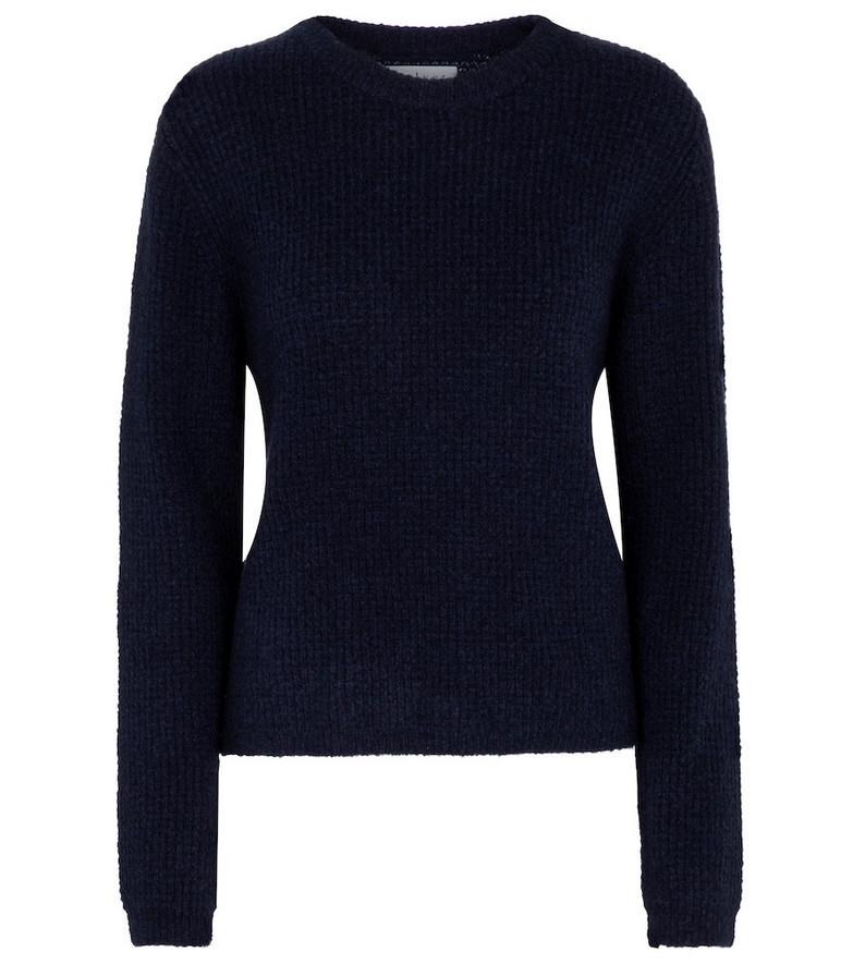 Velvet Wool-blend sweater in blue