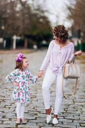 something delightful,blogger,jewels,dress,leggings,mother and child,louis vuitton bag,loafers