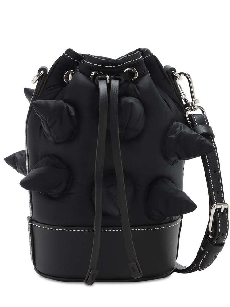 MONCLER GENIUS Jw Anderson Leather & Nylon Bag in black