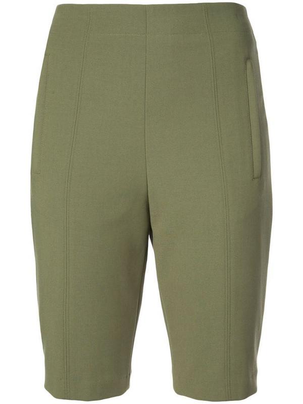 Tibi Anson biker shorts in green