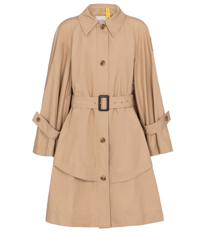 Moncler Genius 1 MONCLER JW ANDERSON cotton trench coat in beige