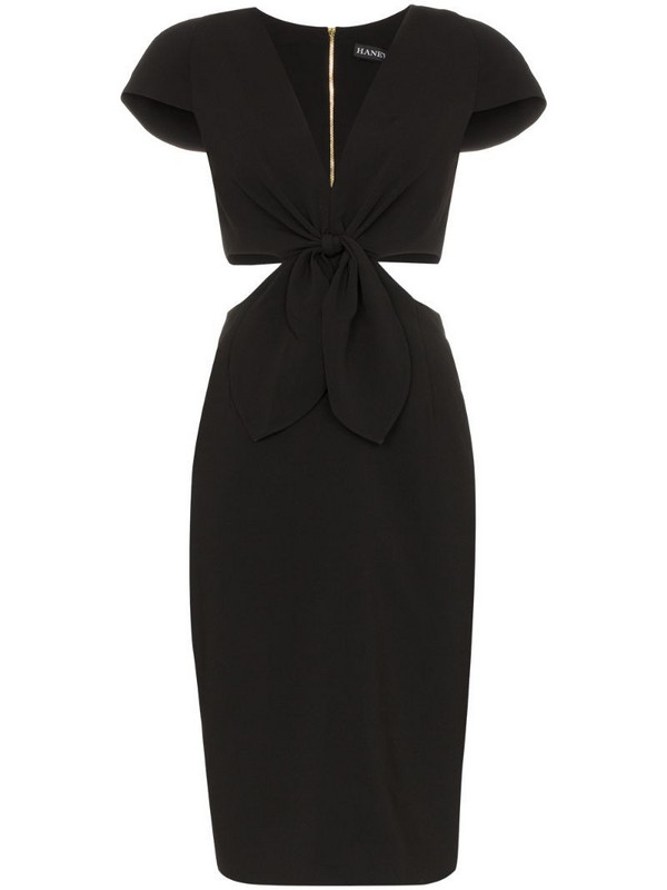 Haney Phoebe cut-out dress in black