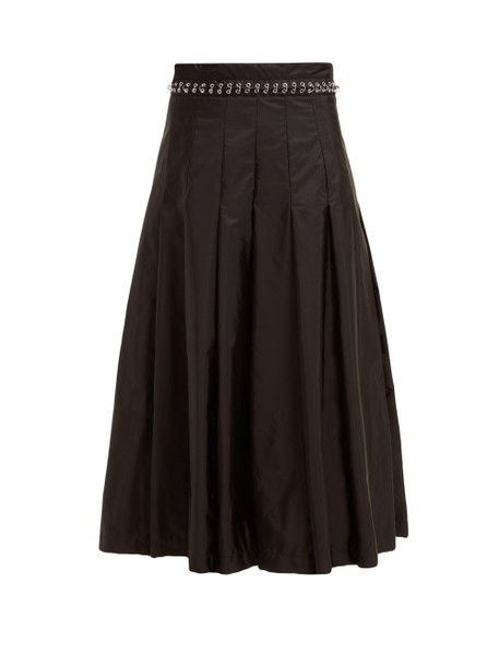 6 Moncler Noir Kei Ninomiya - Eyelet Chain Pleated Skirt - Womens - Black