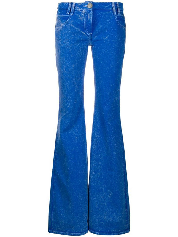 Balmain low rise flared jeans in blue