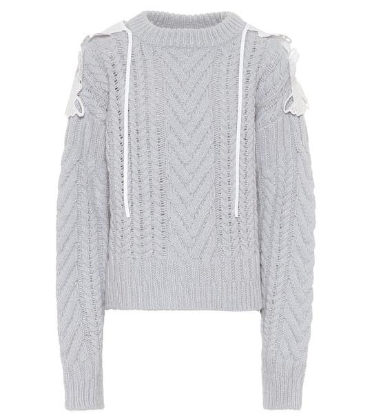 Cecilie Bahnsen Monse merino wool-blend sweater in blue