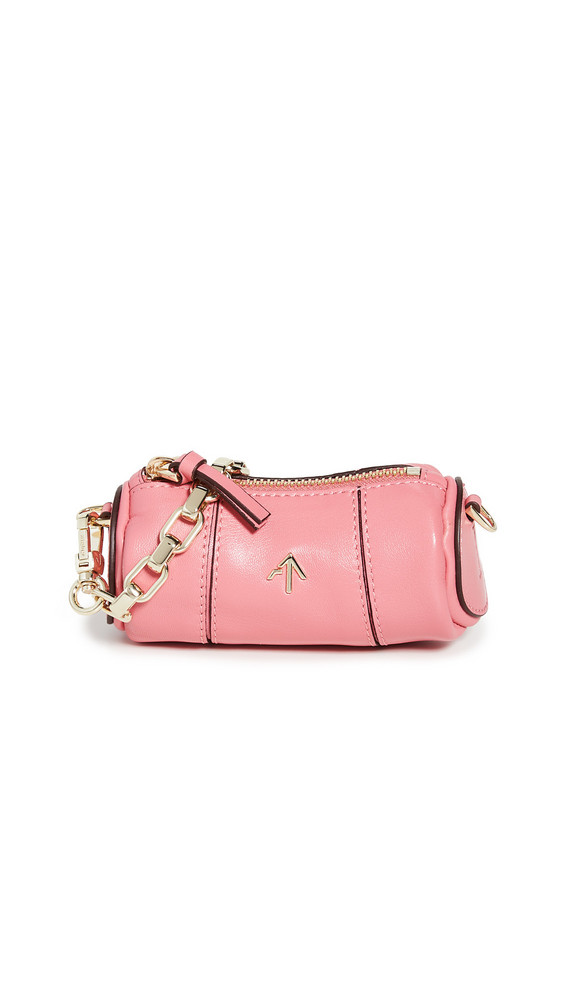 MANU Atelier Micro Cylinder Bag in pink