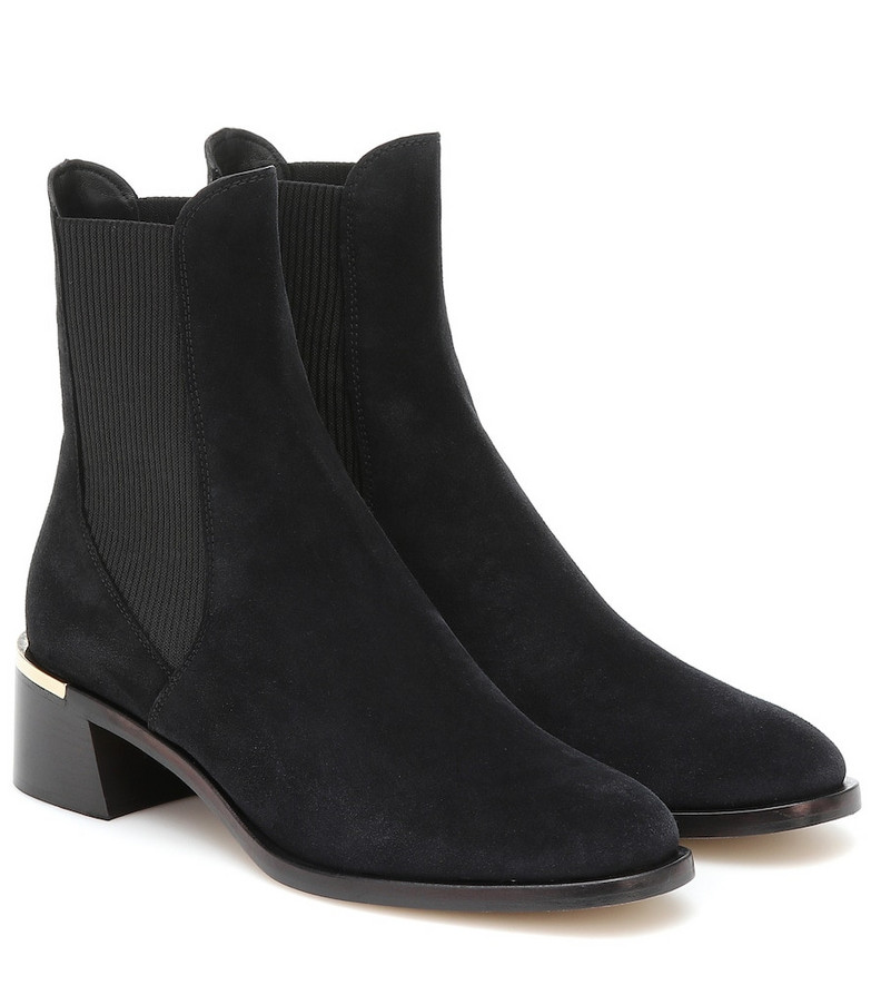 Jimmy Choo Rourke 45 suede ankle boots in black