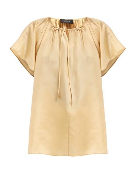 Joseph - Rita Paper Silk Blouse - Womens - Beige