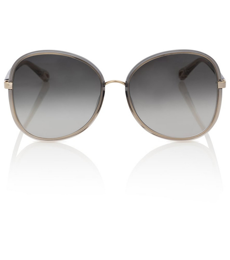 Chloé Franky oversized round sunglasses in grey