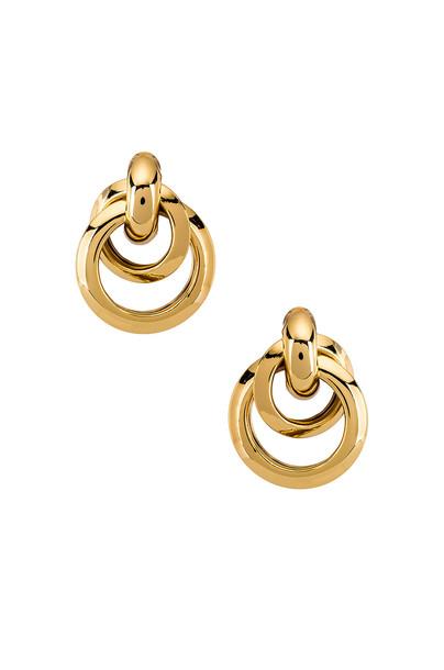 Ettika Multi Hoop Earrings in gold / metallic