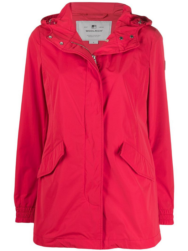 Woolrich Summer parka coat in red