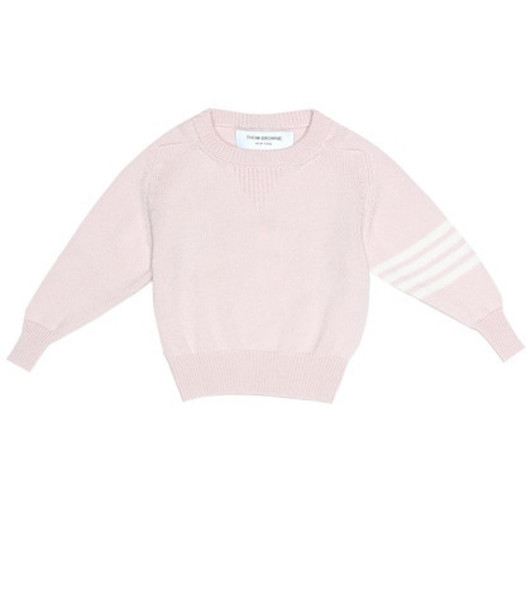 Thom Browne Kids Cashmere sweater in pink