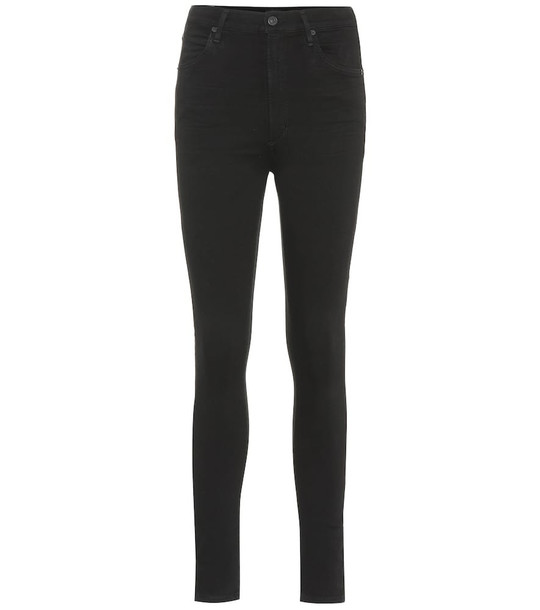 Citizens of Humanity Chrissy high-rise skinny jeans in black