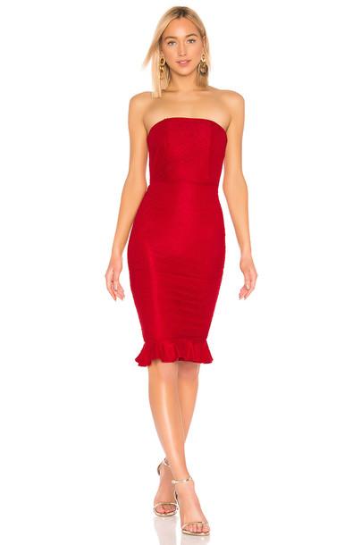 Michael Costello X REVOLVE Ericka Dress in red