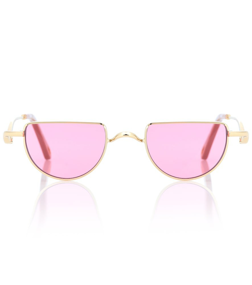 Chloé Carlina round sunglasses in pink