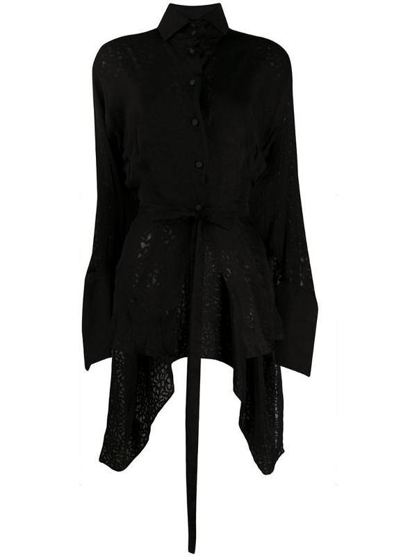 Gianfranco Ferré Pre-Owned 1990s cut-out blouse in black