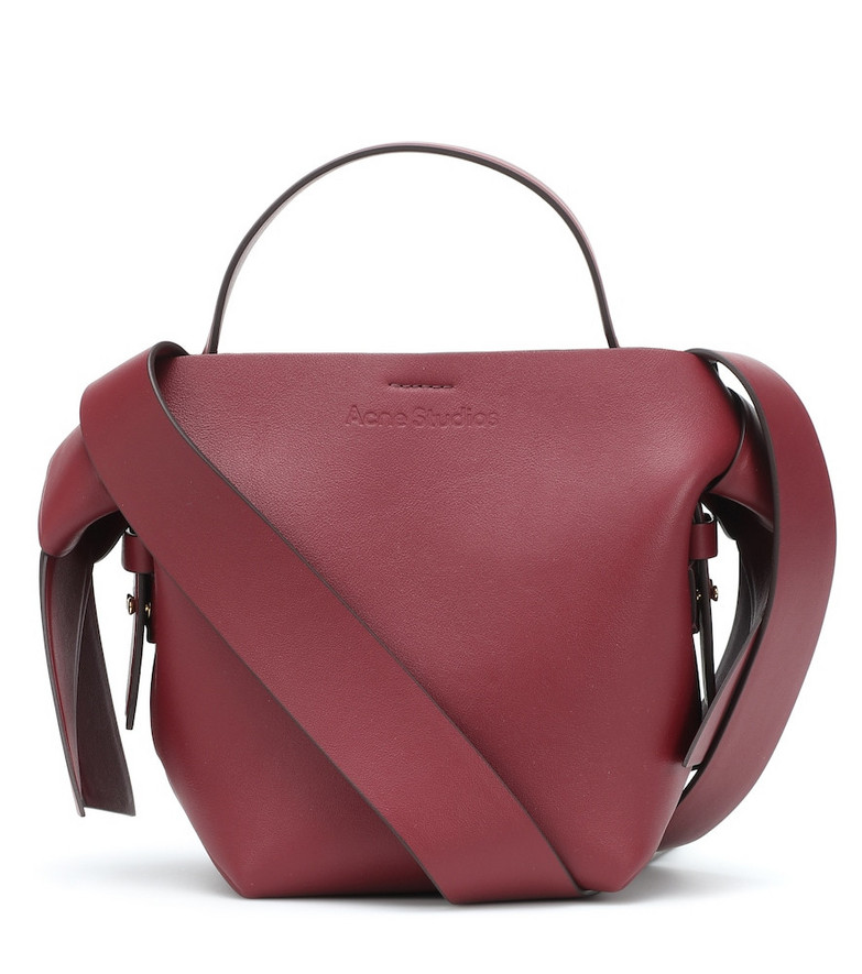 Acne Studios Musubi Mini leather shoulder bag in red