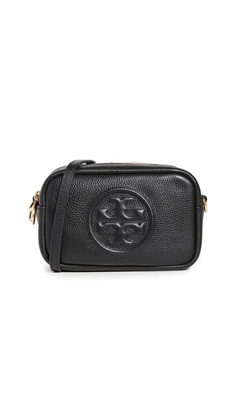 Tory Burch Perry Bombe Mini Bag in black