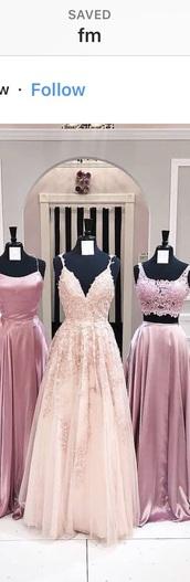 dress,pastel pink,formal dress,floral dress