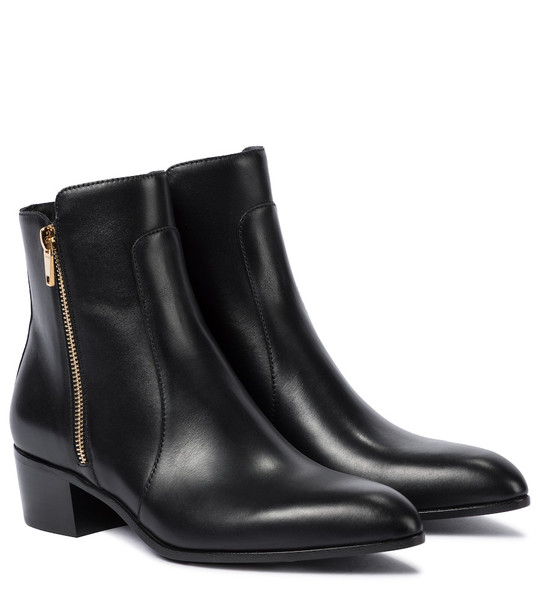 Balmain Roxie leather ankle boots in black