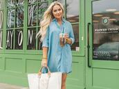 cortinsession,blogger,dress,bag,jewels,shoes,denim dress