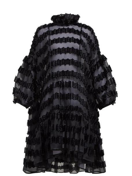 Cecilie Bahnsen - Belle Tassel Fil Coupé Organza Dress - Womens - Black