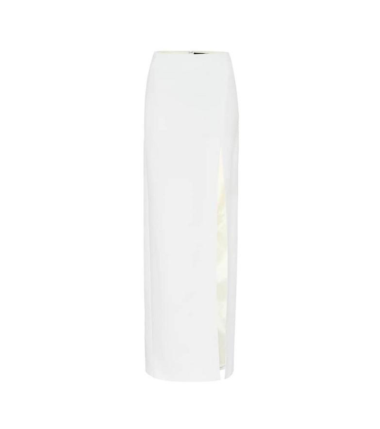 David Koma High-rise cady maxi skirt in white
