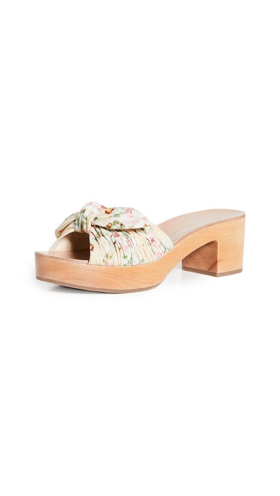 Loeffler Randall Regina Clog Slide Sandals in tan