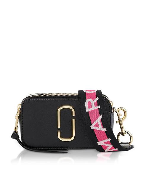 Marc Jacobs Logo Strap Snapshot Camera Bag in black