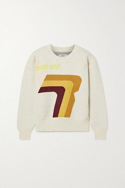 Isabel Marant Étoile - Klero Intarsia Cotton-blend Sweater - Ecru