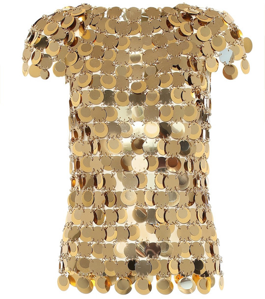 Paco Rabanne Embellished top in gold