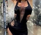 swimwear,black