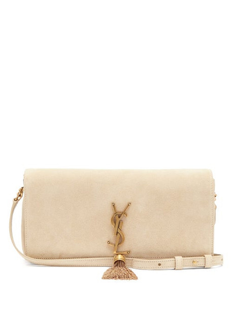 Saint Laurent - Kate Tasselled Suede Cross-body Bag - Womens - Beige